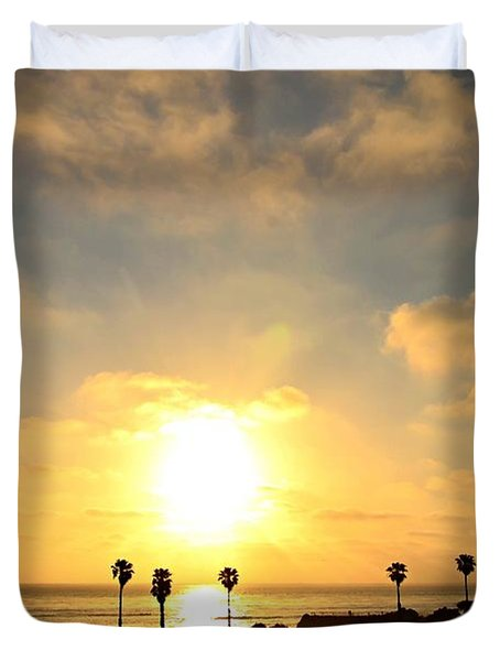 Cardiff Palms Duvet Cover