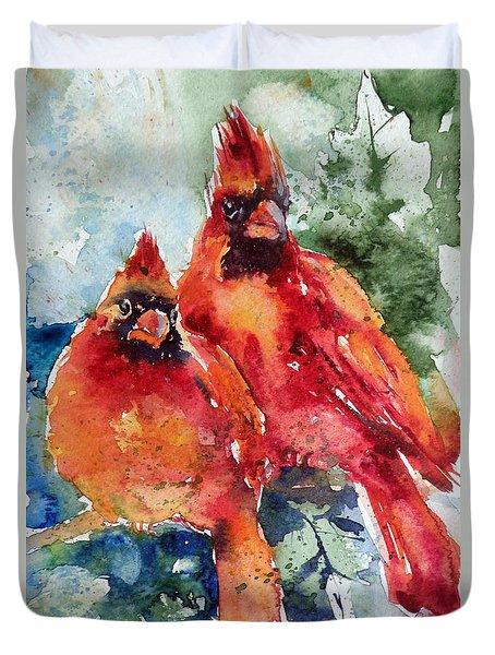 Cardinal Birds Duvet Cover