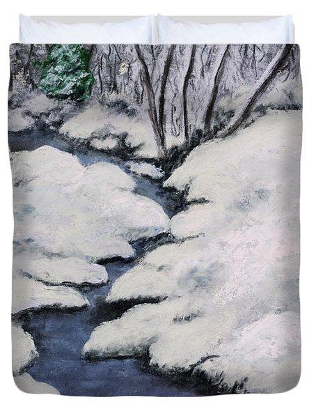 Cardinal Creek Duvet Cover by Ginny Neece