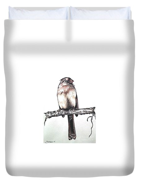 Cardinal Female Duvet Cover by Katharina Filus