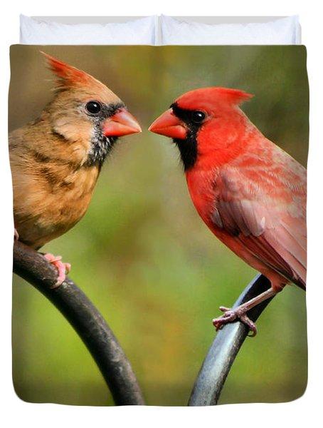 Cardinal Love Duvet Cover