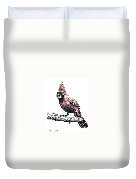 Cardinal Male Duvet Cover by Katharina Filus