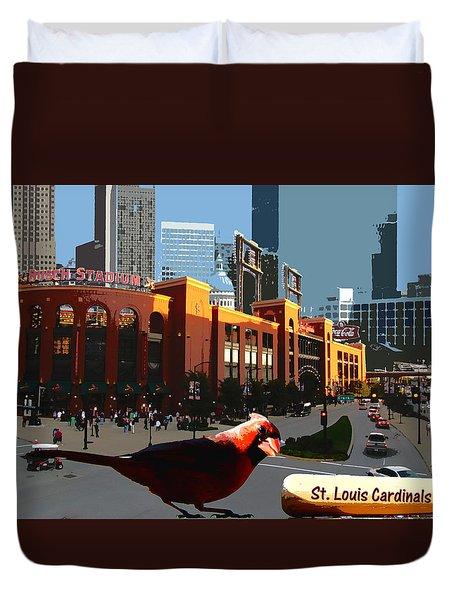 Cardinal Town Duvet Cover