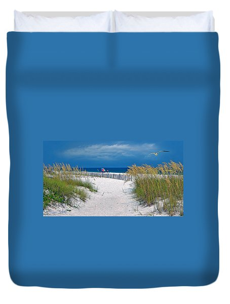 Carefree Days By The Sea Duvet Cover