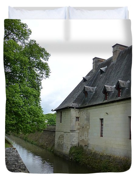 Caretaker Cottage On The Canal At Chenonceau Duvet Cover