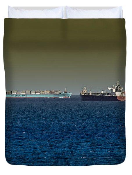 Cargo Steamer  Duvet Cover