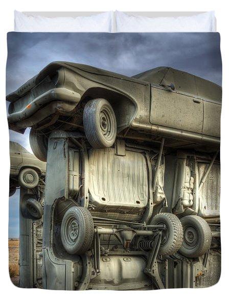 Carhenge Automobile Art 2 Duvet Cover by Bob Christopher