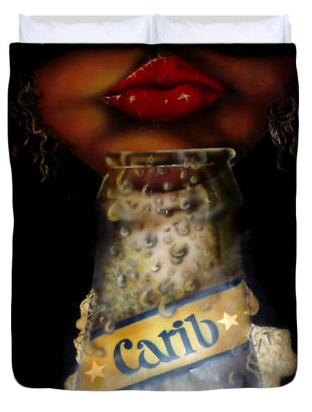Carib Beer Duvet Cover