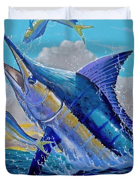 Carib Blue Duvet Cover by Carey Chen