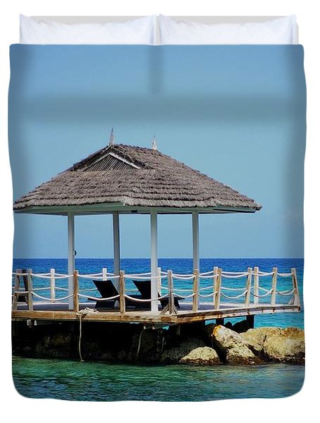 Duvet Cover featuring the photograph Caribbean Breeze by Randy Pollard