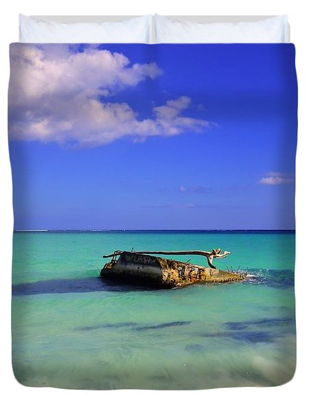 Duvet Cover featuring the photograph Caribbean Colors  by Eti Reid