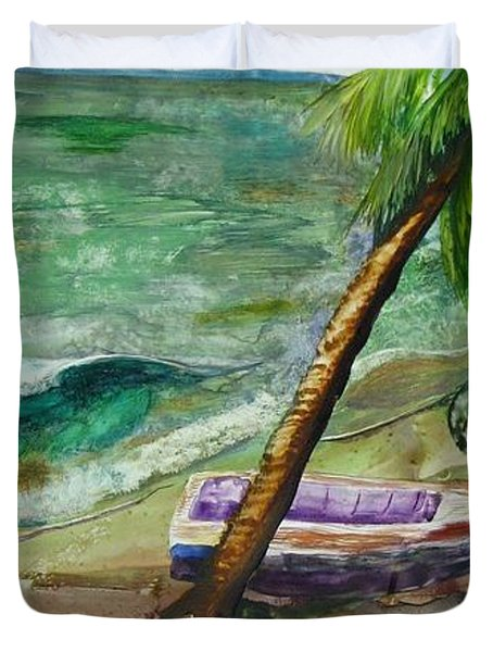 Caribbean Morning II Duvet Cover