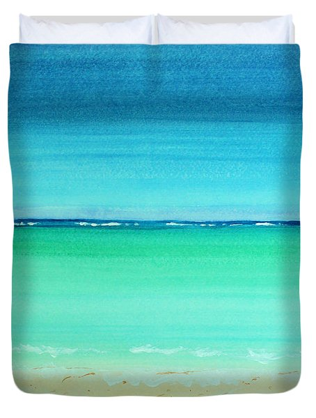 Caribbean Ocean Turquoise Waters Abstract Duvet Cover