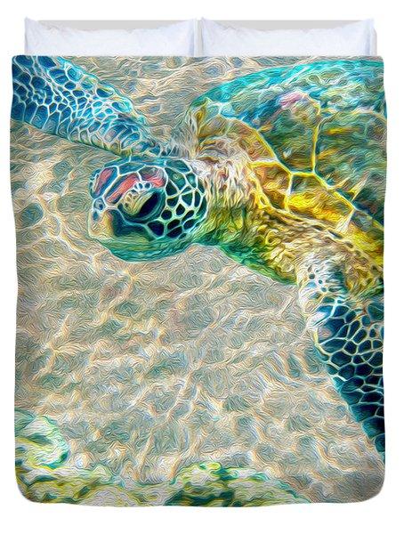Beautiful Sea Turtle Duvet Cover