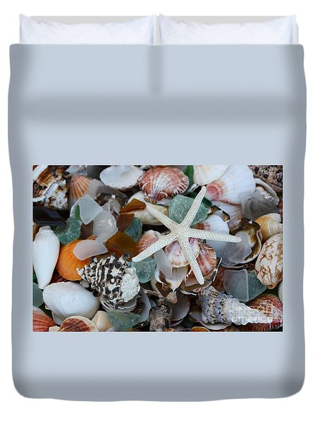 Caribbean Shells Duvet Cover by The Art of Alice Terrill