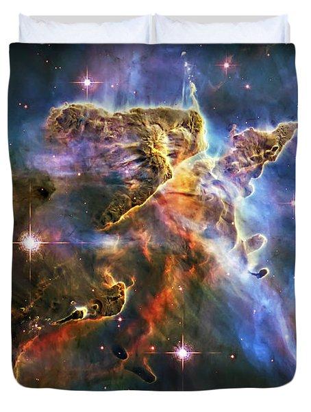 Carina Nebula 6 Duvet Cover by Jennifer Rondinelli Reilly - Fine Art Photography
