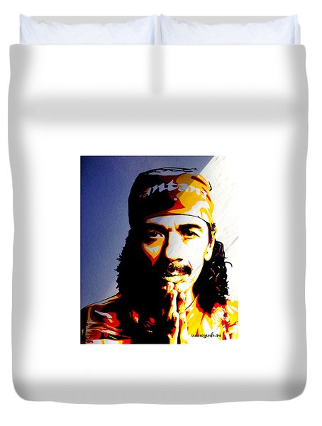 Carlos Santana. Duvet Cover
