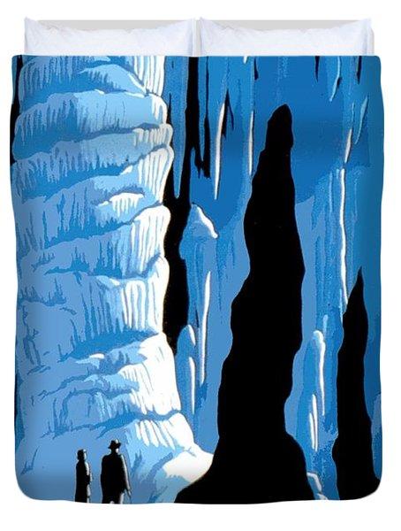 Carlsbad Caverns National Park Vintage Poster Duvet Cover