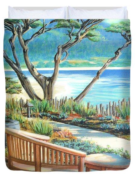 Carmel Lagoon View Duvet Cover