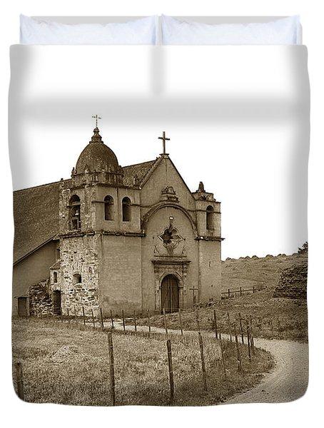 Carmel Mission Monterey Co. California Circa 1890 Duvet Cover