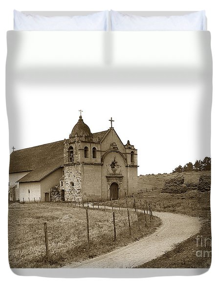 Carmel Mission Monterey Co. California Circa 1890 Duvet Cover