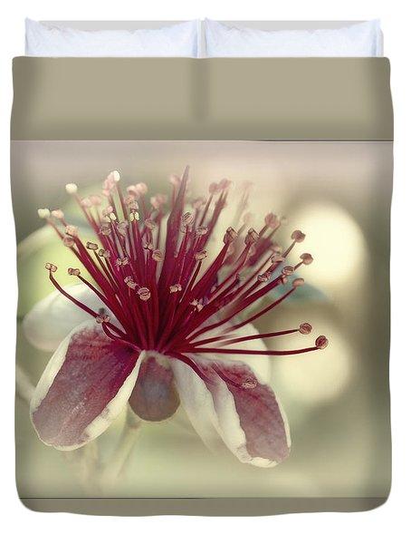 Duvet Cover featuring the photograph Carmella by Elaine Teague