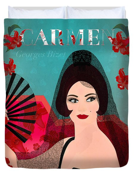 Carmen - Limited Edition 1 Of 15 Duvet Cover