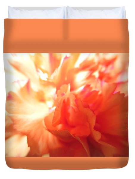 Carnation Close-up Duvet Cover by Mark David Gerson