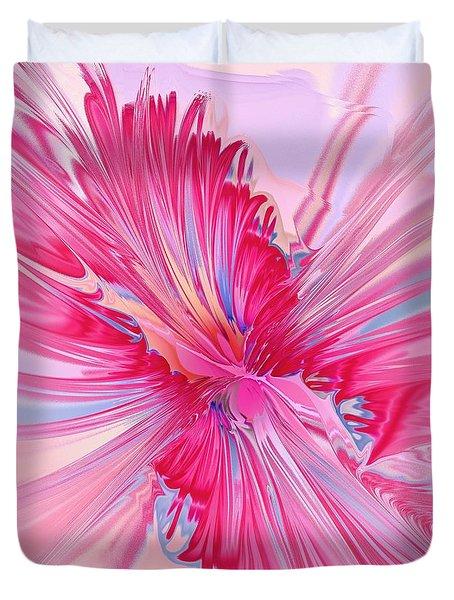 Carnation Pink Duvet Cover by Anastasiya Malakhova