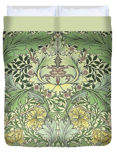 Carnations Design Duvet Cover by William Morris