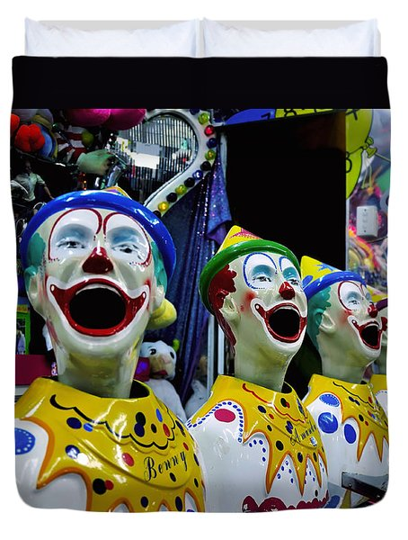 Carnival Clowns Duvet Cover