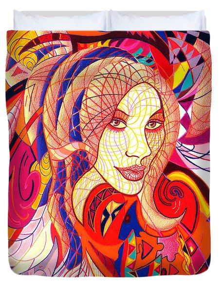 Carnival Girl Duvet Cover by Danielle R T Haney