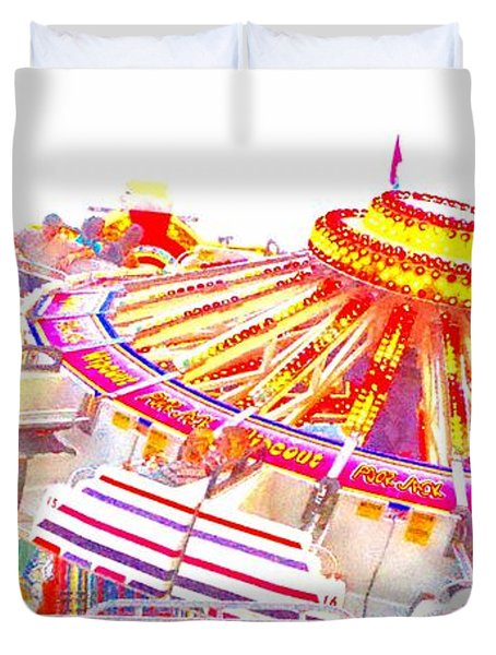 Duvet Cover featuring the photograph Carnival Sombrero by Marianne Dow