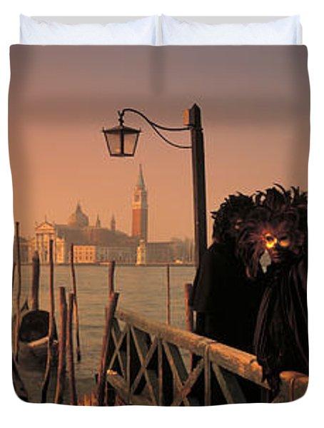 Carnival Venice Italy Duvet Cover