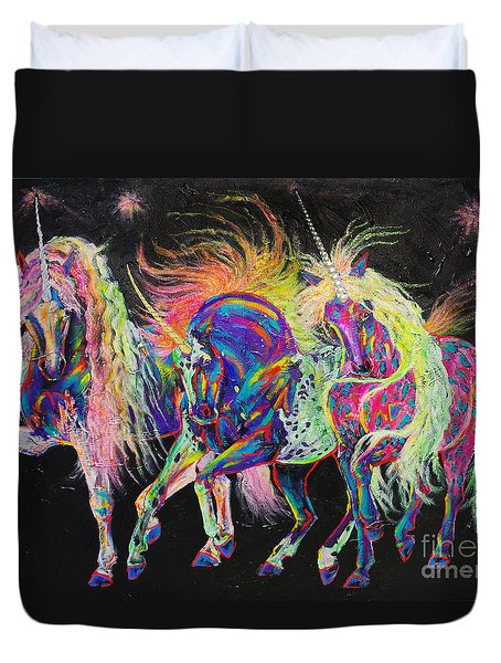 Carnivale Duvet Cover by Louise Green