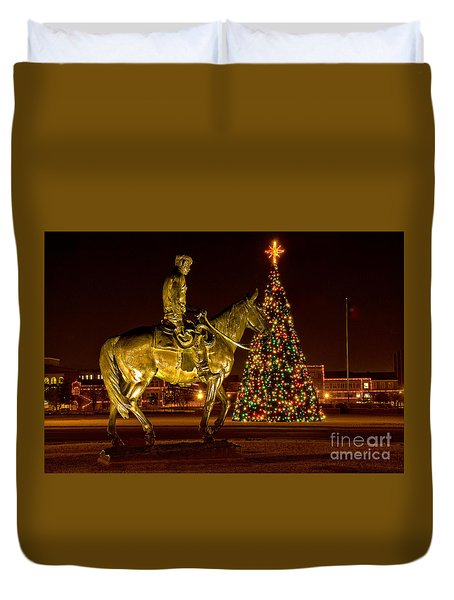 Duvet Cover featuring the photograph Carol Of Lights by Mae Wertz