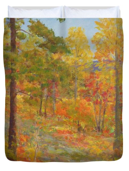Carolina Autumn Gold Duvet Cover