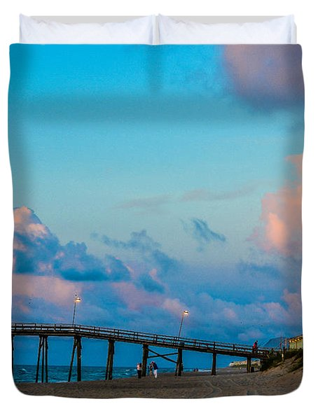 Carolina Blue Over Kure Beach Duvet Cover