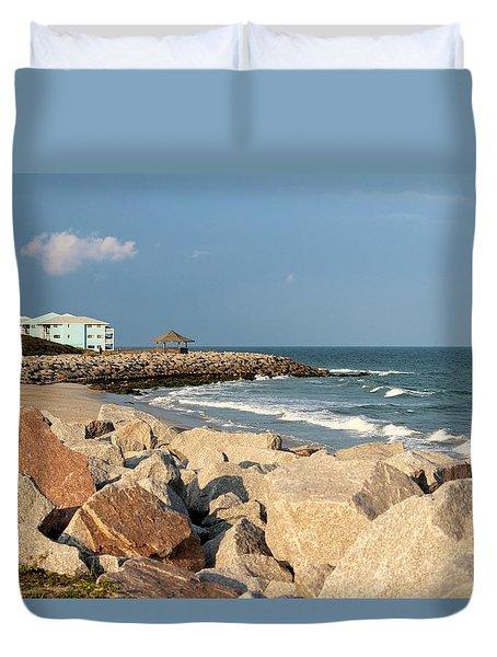 Duvet Cover featuring the photograph Carolina Coast by Cynthia Guinn