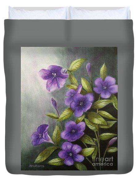 Carolina Wild Petunia Ruellia Caroliniensis Duvet Cover