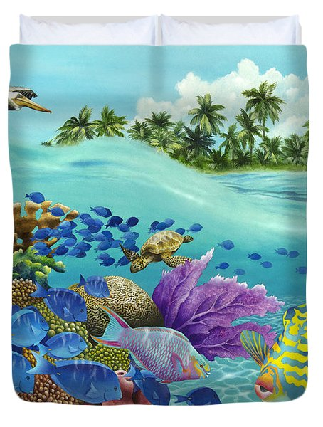 Coral Carnival Duvet Cover by Carolyn Steele
