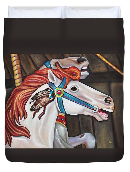 Carousel Chief Duvet Cover by Eve  Wheeler