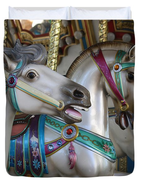 Carousel Duvet Cover by Donna Walsh