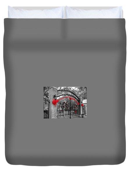 Carousel Gardens - New Orleans City Park Duvet Cover