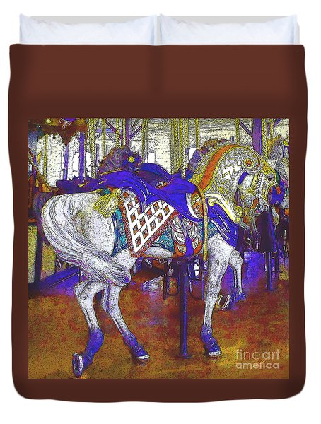 Carousel Steed Duvet Cover