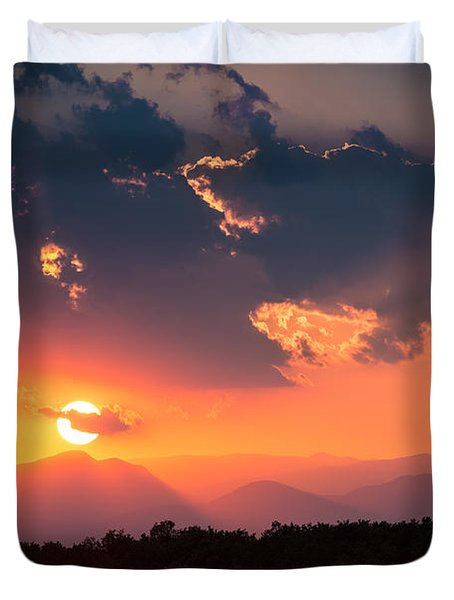 Carpathian Sunset Duvet Cover by Mihai Andritoiu