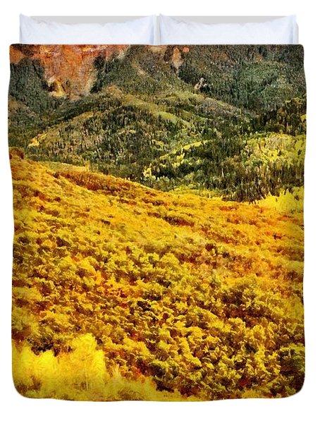 Carpeted In Autumn Splendor Duvet Cover