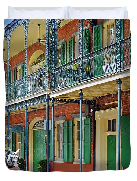 Carriage Ride New Orleans Duvet Cover by Christine Till
