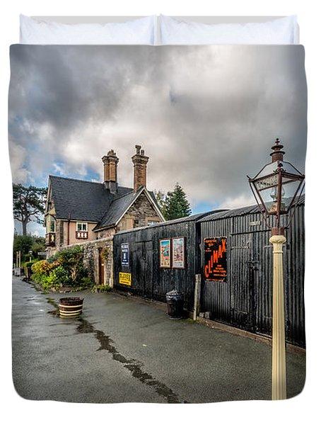Carrog Railway Station Duvet Cover
