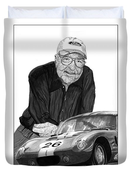 Carroll Shelby    Rest In Peace Duvet Cover by Jack Pumphrey